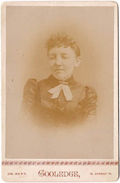 Mary Ingalls in 1889, the year she graduated from the Iowa College for the Blind