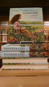 Places like The Bookstore at Fitger's, in Duluth, MN, put Pioneer Girl: The Annotated Autobiography front and center in their stores.