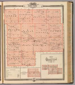 A map of Grundy County, Iowa. Cartography Associates, David Rumsey Collection