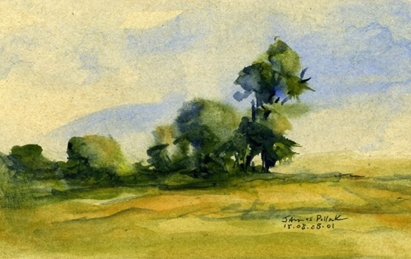 Wilder Tree Claim watercolor by James Pollock